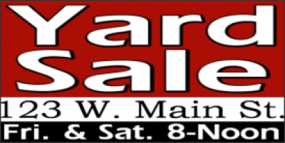 Yard Sale Event Banner