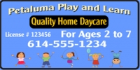 Play and Learn Daycare Vinyl Banner