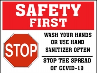 SAFETY FIRST | Wash Your Hands