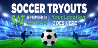 Soccer Tryouts Sports Banner #2