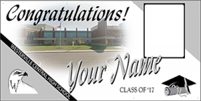 Westerville Central High School Deluxe Graduation Banner