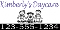 Daycare Vinyl Business Banner