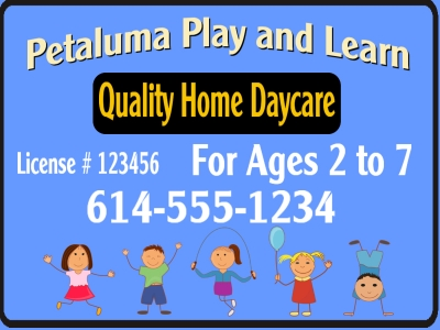 Petaluma Play and Learn Quality Home Daycare