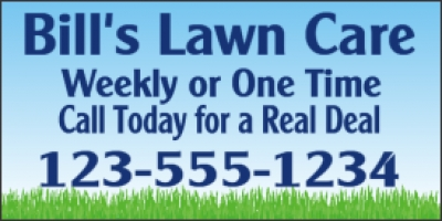Lawn Care Business Banner
