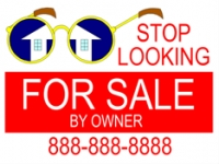 "Real Estate Double-Sided 18"" x 24 For Sale By Owner Sign"