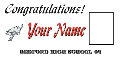 Bedford High School Graduation Banner Template