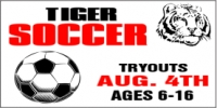 Soccer Tryouts Sports Banner #1