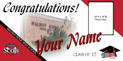 Walnut Ridge High School Deluxe Graduation Banner