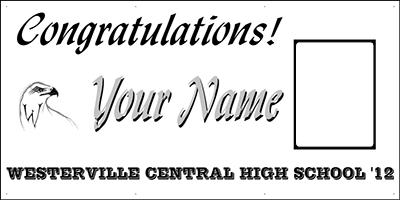 Westerville Central High School Graduation Banner
