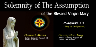 Religious Banner Template #4 - Catholic Assumption of Mary