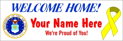 2' x 6' Air Force Welcome Home Banner
