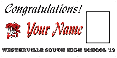 Westerville South High School Grad Banner