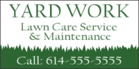Lawn Care Service & Maintenance Banner