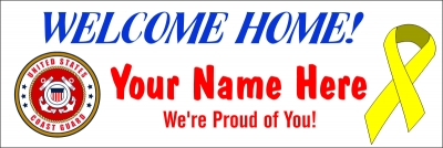 2' x 6' Coast Guard Welcome Home Banner