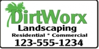 Residential and Commercial Landscaping Banner
