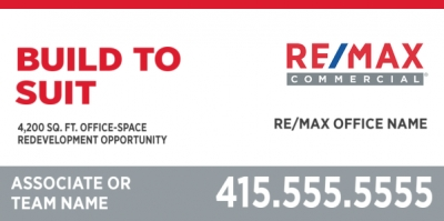 RE/MAX Commercial Sign 48 x 96 inches