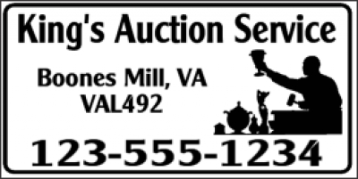 Auction Service Banner
