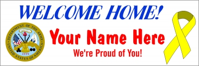 2' x 6' Army Welcome Home Banner