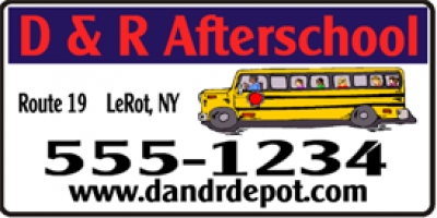 After School Day Care Banner
