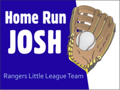 Personalized Baseball Yard Sign template with baseball glove