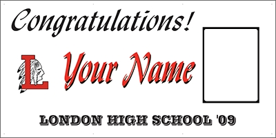London High School Graduation Banner