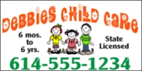 Chid Care Vinyl Business Banner