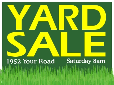 Yard Sale Yard Sign | Green/Yellow