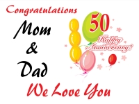 50th Anniversary Congratulations Yard Sign template