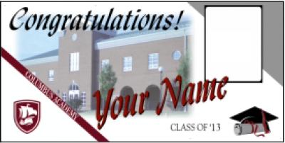 Columbus Academy High School Deluxe Graduation Banner