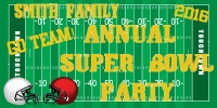 Super Bowl Football Party Banner