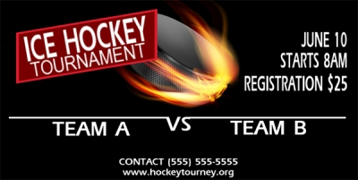 Hockey Tournament Banner #4