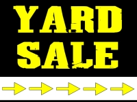 Yard Sale Yard Sign | Black/Yellow Arrows