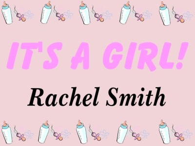 It's a Girl Yard Sign with images