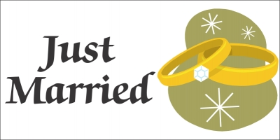 Just Married Banner Template 1
