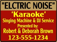 Karaoke Yard Sign Template