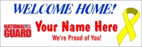 2' x 6' National Guard Welcome Home Banner