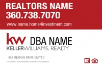 Keller Williams Signs with New KW Logo. Customize, Order 20x30 Real Estate Signs Here
