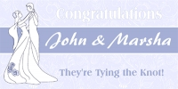 Getting Married Banner Template 1