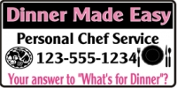 Chef Service Business Banner