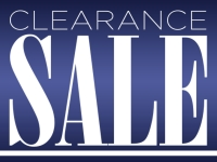 Clearance Sale Yard Sign with purple background and white lettering