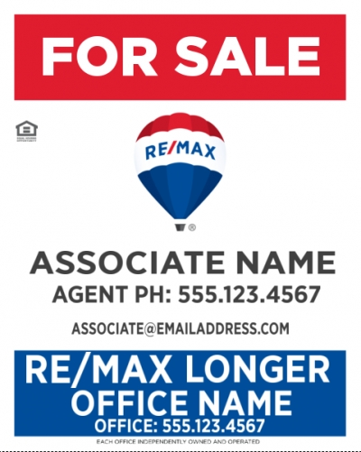 RE/MAX Vertical Office Prominent with Longer Office Name