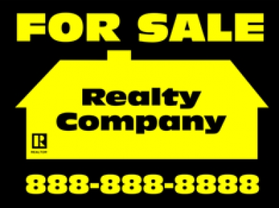 "Real Estate Double-Sided 18"" x 24 For Sale Sign"