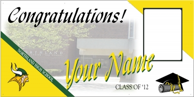 Northland High School Deluxe Graduation Banner