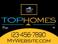 "Real Estate 18""x24"" Double-Sided Top Homes Sign"