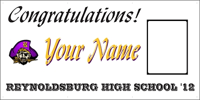 Reynoldsburg High School Graduation Banner