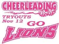 Cheerleading Yard Sign 2