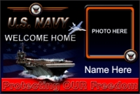 4' x 6' Navy Welcome Home Banner