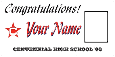 Centennial High School Graduation Banner