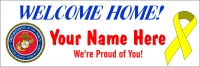2' x 6' Marine Corps. Welcome Home Banner