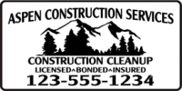 Construction Services Banner
